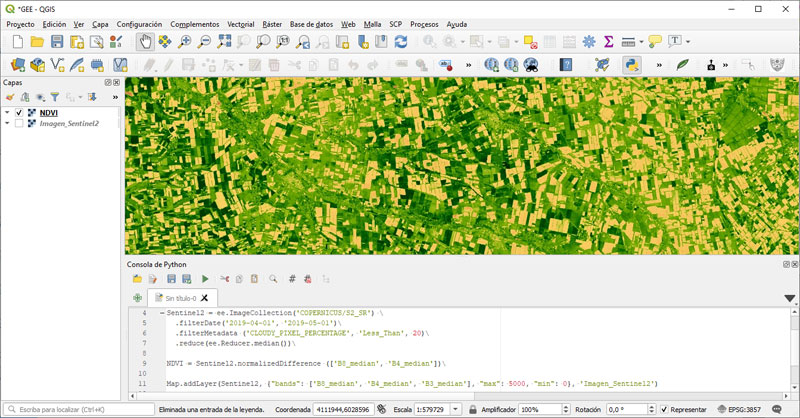 Plugin de Google Earth Engine para QGIS