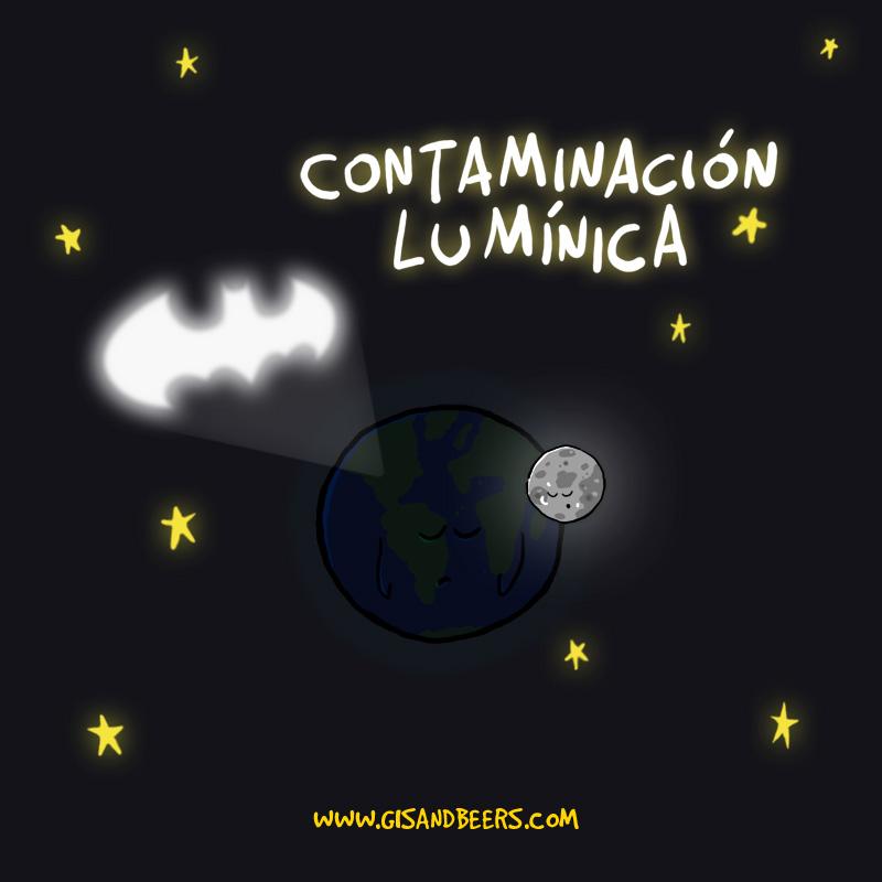 Contaminación lumínica por Batman