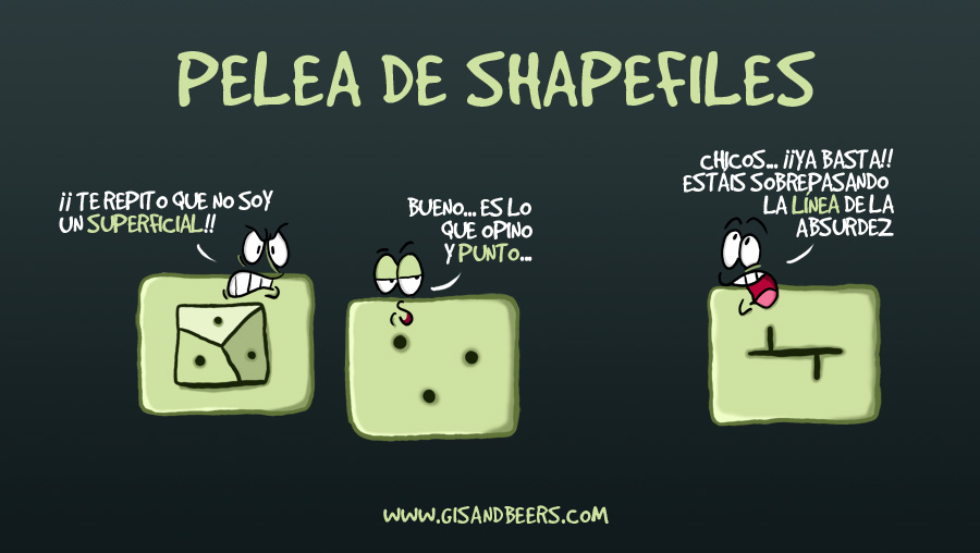 Geomeme: pelea de shapefiles