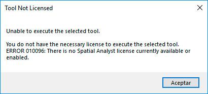 Activar licencia de extension ArcGIS