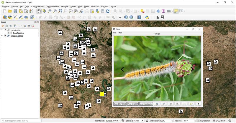 Georreferenciar fotos en QGIS para inventarios naturales