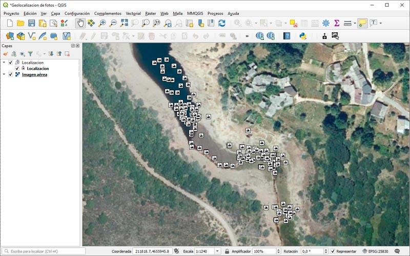 Geolocalizar fotos de campo