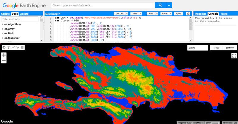 Clasificación no supervisada en Google Earth Engine