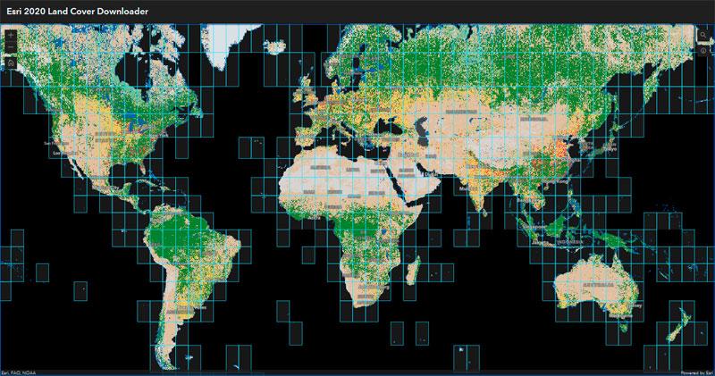 Descargar mapa de usos del suelo de ESRI