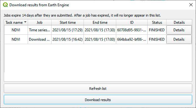 Descarga de datos en Earth Engine con Trends Earth