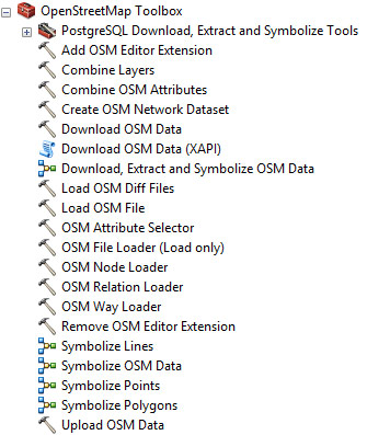 ArcGIS Editor for OpenStreetMap toolbox