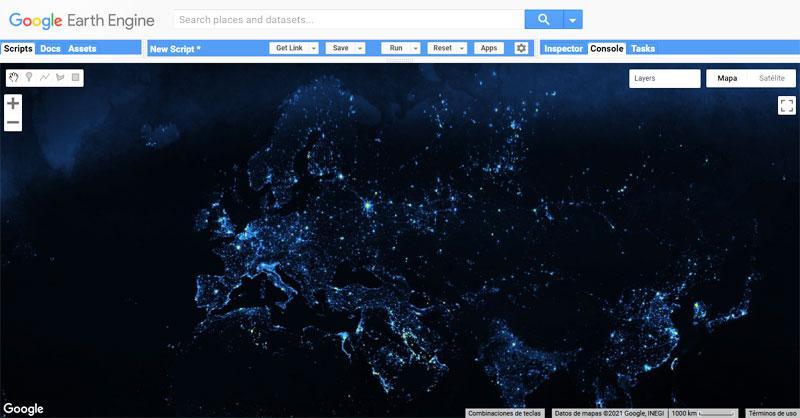 Análisis de contaminación lumínica con Google Earth Engine