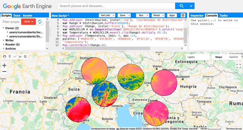 Buffer en Google Earth Engine