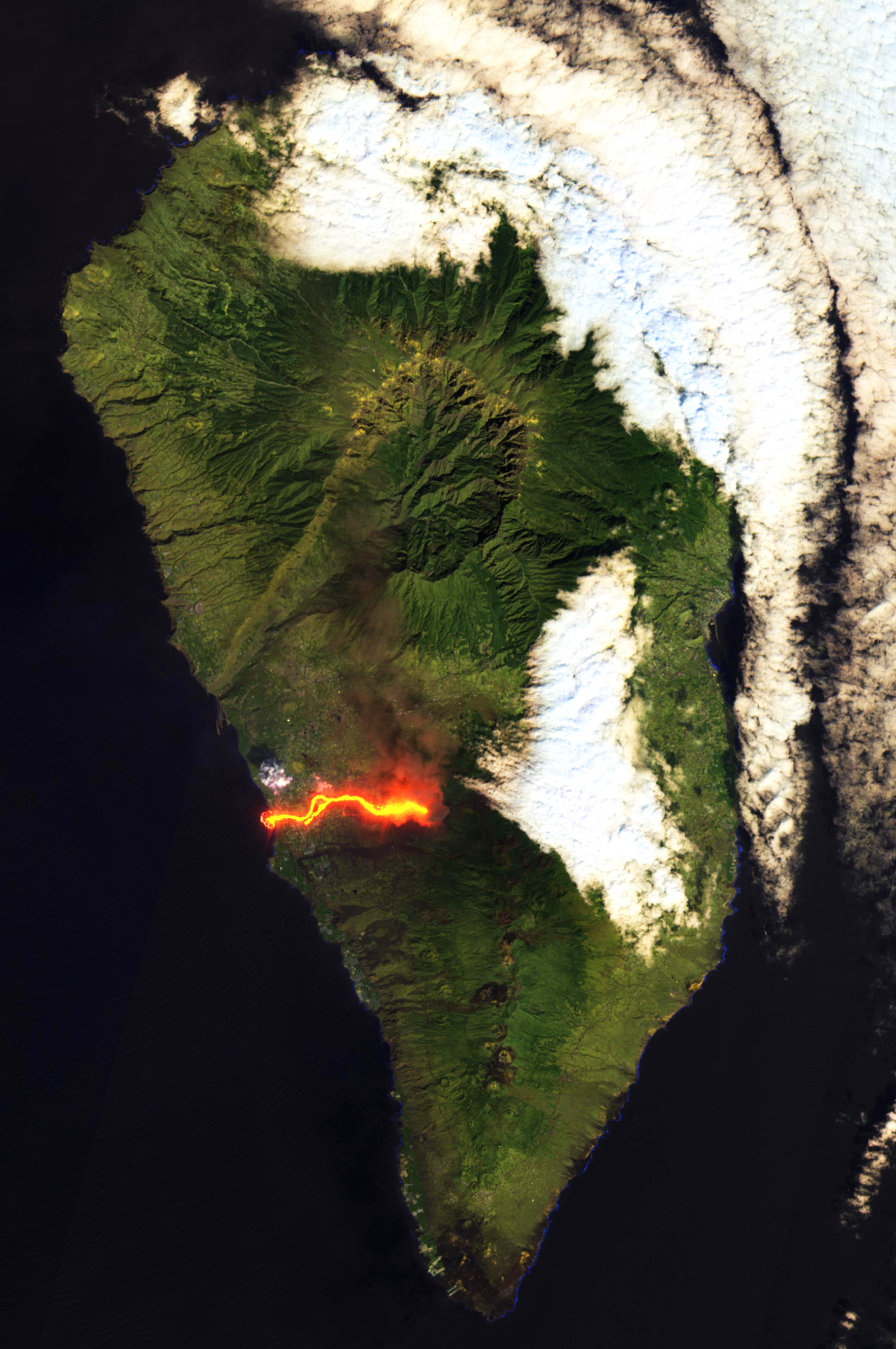 Delta del volcán de La Palma Cumbre Vieja
