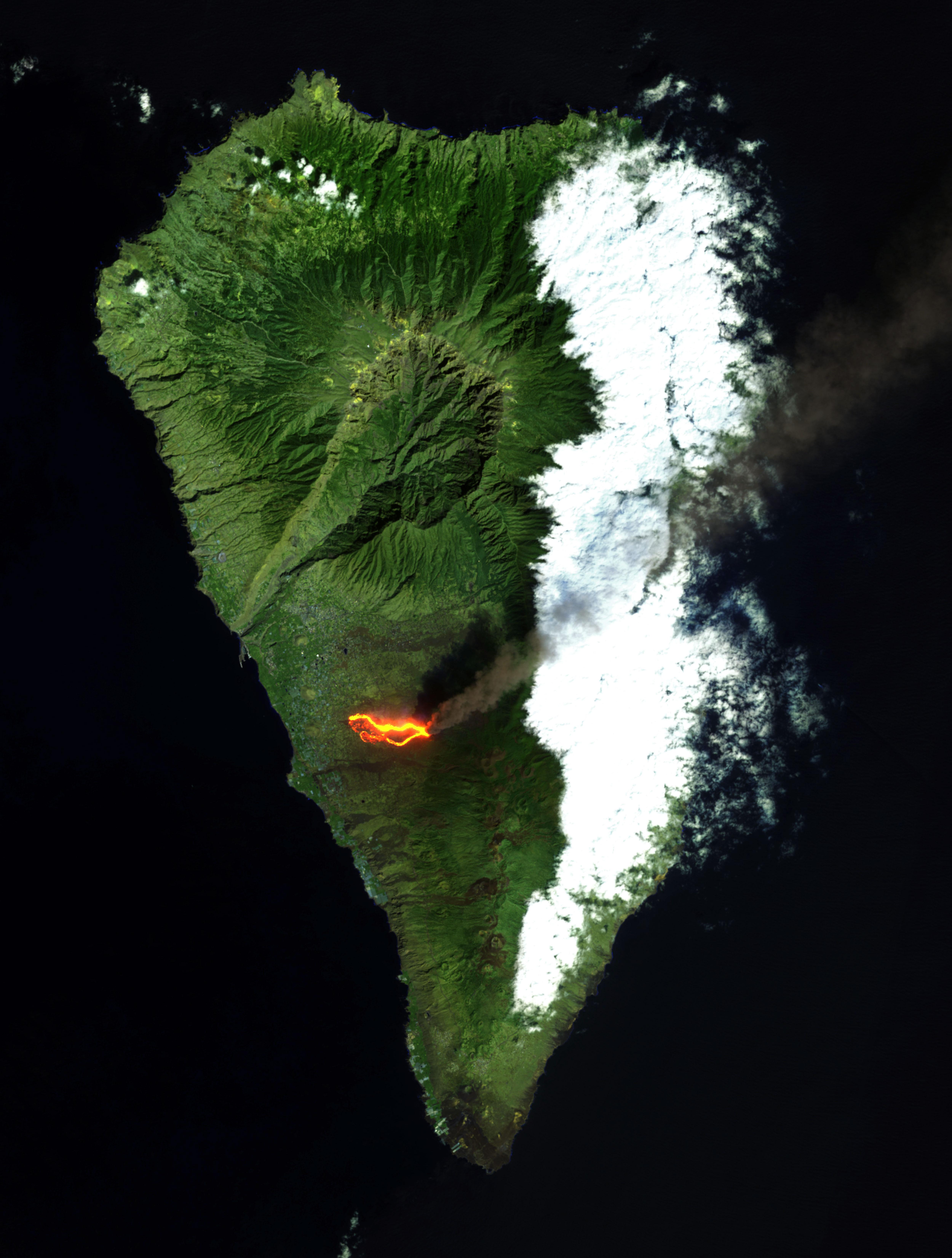 Erupción del volcán en la isla de la Palma