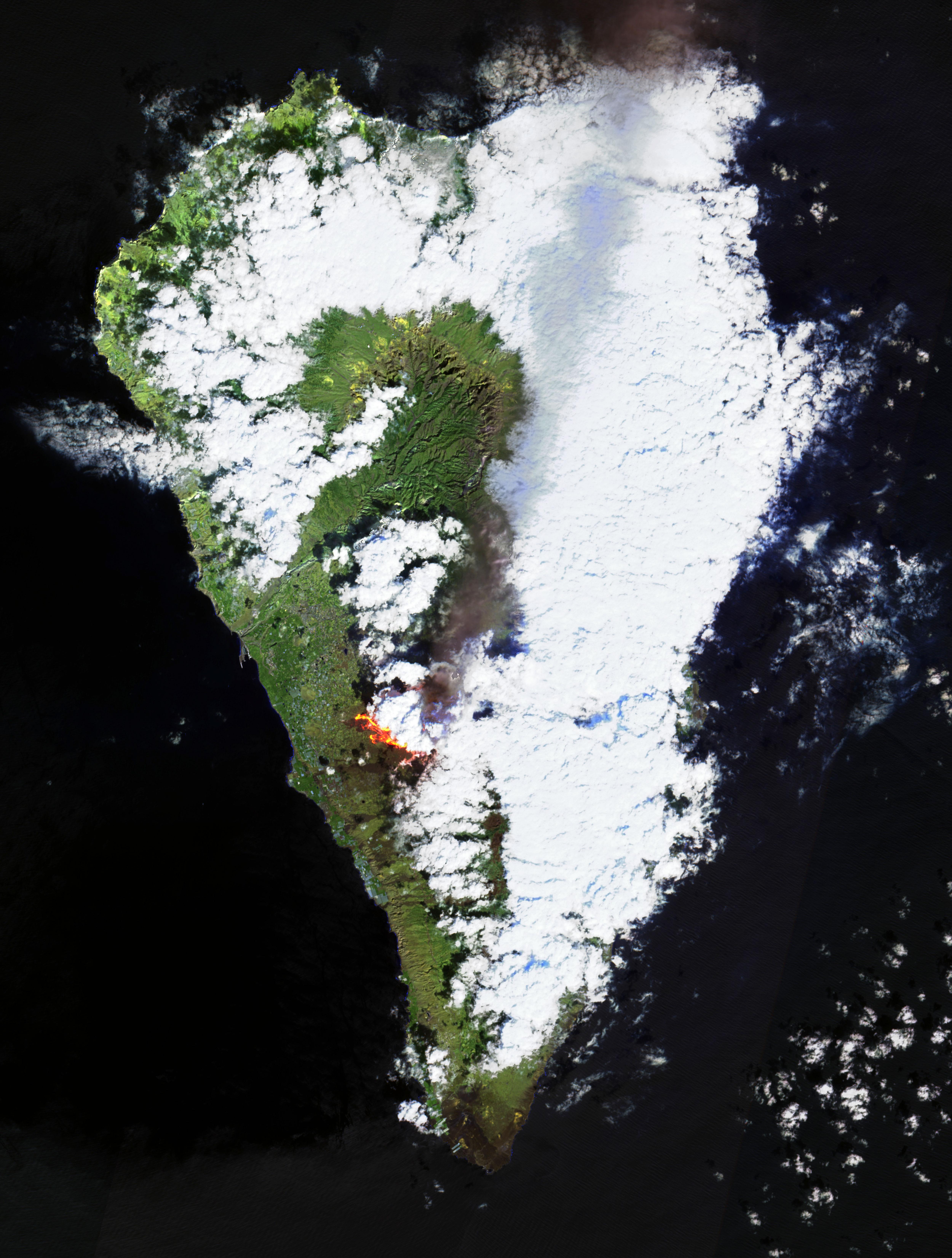 Eurpción de lava del Volcán de la Palma