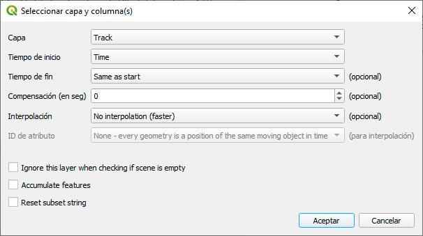 Plugin Timemanager para QGIS