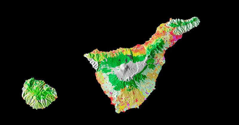 Cartografia ambiental de usos del suelo Corine Land Cover
